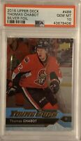 2016 2017 Thomas Chabot FOIL PSA 10 UPPER DECK UD YOUNG GUNS ROOKIE CARD RC #488