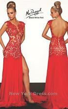 61041R Red MacDuggal Lace Gown Party Evening Formal Dress Prom Size USA 6