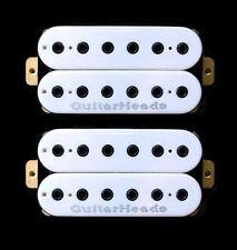 Guitar Parts GUITARHEADS PICKUPS HEXBUCKER HUMBUCKER - Bridge Neck SET 2 - WHITE