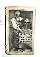 GUEZ DE BALZAC, Aristippe, chez Elsevier, 1658, même année que l'EO
