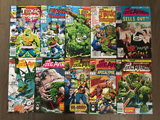 TOXIC AVENGER AND TOXIC CRUSADERS COMIC LOT 10 ISSUES MARVEL COMICS TROMA