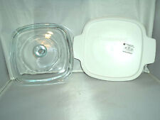 New Corning Ware Pyrex 1 qt Replacement Lid A7C + New Same Size Plastic Cover