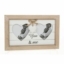 Double Heart Photo Frame You & Me Love Valentines Anniversary Gift