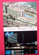 Hotel Algiers Day and Night Vacation Magic Miami Beach Florida Vintage Postcard