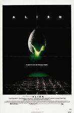 ALIEN (1979)  ORIGINAL MOVIE POSTER  -  FOLDED