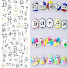 Nail Art Water Transfer Decal Manicure Sticker Abstract Hand-painted Tattoo