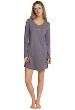 SCHIESSER Damen Nachthemd 85 cm Sleepshirt Langarm Gr S M L XL XXL 3XL 4XL