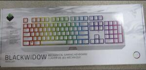 Razer Blackwidow Mercury White Mechanical Gaming Keyboard Lighted Keys Sealed!
