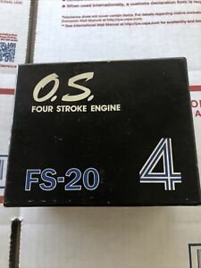O.S. Max FS-20 FOUR STROKE ENGINE Excellent Shape Vintage Rare In Box Collectors