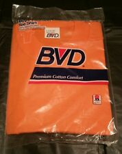 Vintage 1991 Boys BVD T-Shirt Unopened Orange 100% Cotton L 14-16