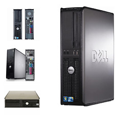 WINDOWS 7 PRO FAST DELL OPTIPLEX DESKTOP PC COMPUTER INTEL CORE 2 QUAD 500GB HDD