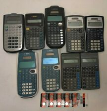 Lot Of 9 Texas Instruments Calculators Ti-30X, Ti-30xIis, Ti-30Xs, Ti-36X pro