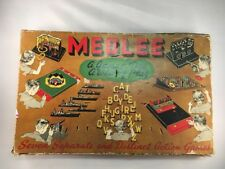 Medlee Board Game Antique Built Rite Toys Made by Warren Paper Products Company