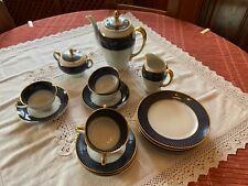 «SERVICE À CAFÉ ANCIEN ROSENTHAL BLEU COBALT»-19 pièces - voir photos