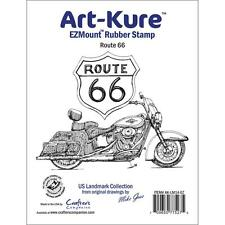 CRAFTER'S COMPANION RUBBER STAMPS CLING ROUTE 66 STAMP