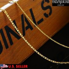 VALYRIA 19'' Womens Stainless Steel Gold Italian Coffee Chain Necklace 2mm Wide