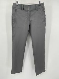 """Nike Golf Women's Dri-Fit Gray Pants Size 4 with 4 Pockets Athletic 31"""" Inseam"""