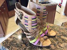 anthropologie Candela Heels Shoes Size 10 Sandals