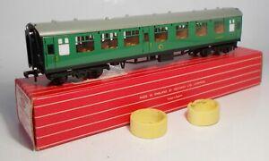Hornby Dublo 2/3-rail 00 gauge BR(SR) Green 1st/2nd Class Coach (4054)