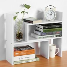 Desk Table Storage Shelving Book Shelf Rack Unit Bookcase Organizer Stand Q