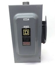 SQUARE D SAFETY SWITCH FUSABLE H362, SERIES F1, 60A, 600VAC, 3 PH