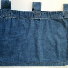 "WOOLRICH Valance Denim 54"" x 18"" Tabs 100% Cotton"