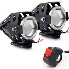 2 pz U7 LED Moto Guida Faro Proiettori Blu Angel Occhio + Gratis Interruttore