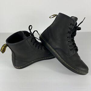 Dr. Martens Shoreditch Airwair Size 7 Women's Black Leather Boots Combat