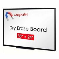 VIZ-PRO Dry Erase Board Magnetic White Board Office Home School 36 X 24 Inches