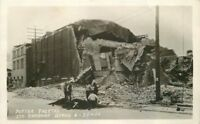 Earthquake Potter Theater 1925 Santa Barbara California RPPC Postcard 12972