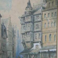 Englischer Monogrammist FRANKFURT GASSE Römerberg mit dem Haus zum grossen Engel