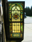 ~ ANTIQUE STAINED GLASS WINDOWS TOP AND BOTTOM SET N ~ ARCHITECTURAL SALVAGE