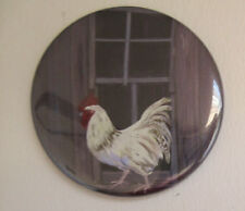 2.25 inch Refrigerator Magnet with Rooster in an Old Window