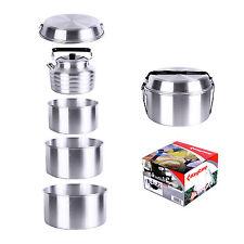 KingCamp Aluminum 6pcs Camping Cookware Set Includes Pots&Gripper Kettle Frypan