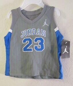 NWT Nike Jordan Jumpman Newborn Baby Boys Tank Top Jersey T-Shirt 12M Grey