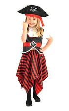 Kids Children Girl Pirate Costume Swashbuckler Outfit Fancy Dress Large 7-8 Years