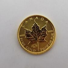 1998 Canada 1/10th ozt GOLD Maple Leaf $5 Coin BU loose L8658