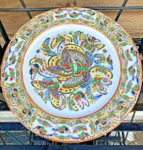 Chinese export thousand butterflies pattern porcelain plate