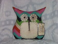 Primitive/Shabby Owl Doll/Pillow~Colorful Chevron~Tuck/Ornie~Follow Your Dreams
