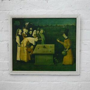 Antique Artists Framed Print Bosch 'The Conjurer' by Braun & Cie c1924 Medieval