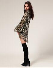 ☆ Winter Kate Designer Boho Devi Dress Silk Chiffon House of Harlow Sz S RRP 409