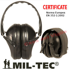 CUFFIE da Tiro e Poligono MilTec Nere CERTIFICATE - Cuffia Nera Mil tec a  norma b9681aed655c