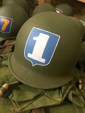 Vietnam War M1 Helmet Shell Custom Hand Painted Arvn South Rvn 1st Infantry Div.