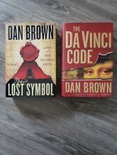 New listing Lot of 2 Dan Brown Hardcover Books Da Vinci Code/ The Lost Symbol