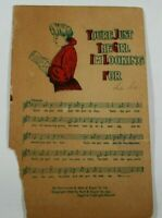Vintage Music Notes Greetings Card 1908 Rare Posted Antique Postcard Collectible