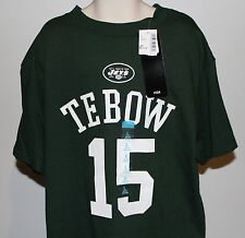 New York Jets Tom Tebow NFL Team Apparel Kids Large (10-12) Green T Shirt NWT