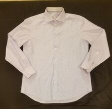 Bugatchi Men size 16.5 34/35 Long Sleeve Button Down Dress Shirt Light Blue (B)