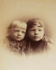 ANTIQUE CABINET PHOTO TWO PRETTY SISTERS NICE HAIR SAC CITY IOWA 1880-90s