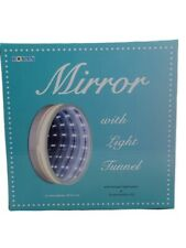 Mirror Make Up Round Plastic Warm White Led Light Tunnel Effect Hang Or Tabletop