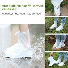 Waterproof Shoes Boot Cover Zipper Rain Shoe Covers High-Top Anti-Slip Shoes